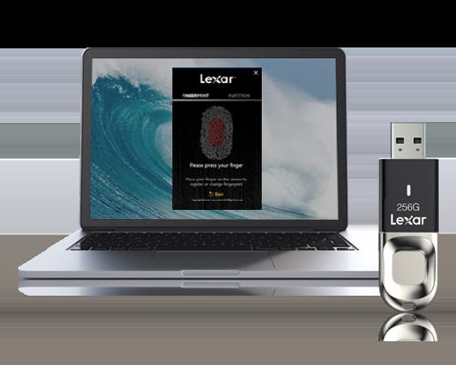 Lexar® JumpDrive® Fingerprint F35 USB 3 0 Flash Drive - Lexar